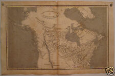 1809 Antique North America Us Map Engraving Tall Pawnee Snake Indians Missisipi