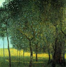 GUSTAV KLIMT : ORCHARD, APPLE TREES :: CANVAS ART PRINT