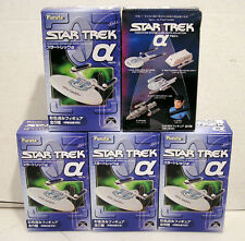 "2006 Set of 5 Star Trek FURUTA Japenese Blue Box ""A"" Mini Ships- MIB!!"
