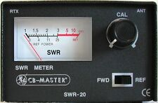 Mini Tos Swrmeter Tos-Meter Metall CB 26-28Mhz 50 Ohm 100W + Kordon Pl / Pl 50cm