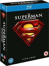 SUPERMAN 5 FILMS COLLECTION 1978-2006 BLU RAY SET NEW 1 2 3 4 5
