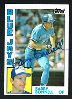 Barry Bonnell #302 signed autograph auto 1984 Topps Baseball Trading Card