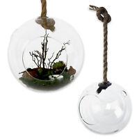 Dekoglas zum Aufhängen 20 x 20 cm mit 2 Luftlöchern Windlicht Teelichthalter