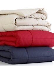 Home Design Colored Mini Stripe Rio Red Full/Queen Down Alternative Comforter
