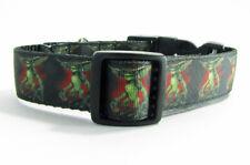 "Gremlins dog collar handmade adjustable buckle collar 1"" wide or leash horror"