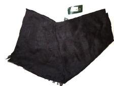 Lauren Ralph Lauren womens Scarf Black wool blend fringe