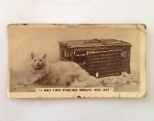 Cat & Pigeons De Reszke 1932 Real Photographs Rare Cigarette Card (B71)