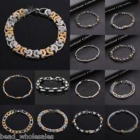 Fashion Stainless Steel Bracelet Biker Chain Men Women Bangle Cuff Punk Jewelry
