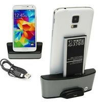 Dual Charging Battery Charger Phone Dock Holder For Samsung Galaxy S5 i9600