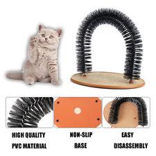 Cat Arch Scratcher Self Groomer Toy Bristle Massager Catnip Play Soft