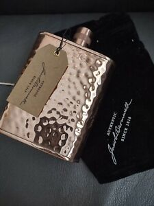 JACOB BROMWELL FREEDOM FLASK HAMMERED COPPER 12oz HAND MADE NEW MSRP $700