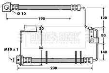 Brake Hose BBH7416 Borg & Beck Hydraulic 04860082AF K04860082AE Quality New