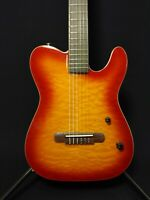 Baracuda Nylon String Electric Guitar,Solid Mahogany+Free Bag SCC-100 Sunburst