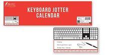 2018 Keyboard Jotter Desk Calendar Jotter Notes Year to View Office/Desk UK