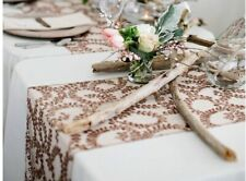 10 Rose Gold Sequin Design Wedding Banquet  Event Party Decor Table Runners