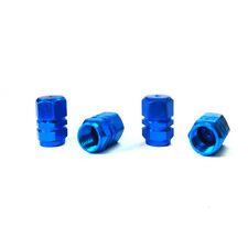 4pcs Blue Tire Valve Stem Caps For Kawasaki Honda Yamaha Suzuki Harley