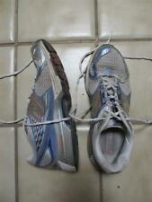used Ladies NEW BALANCE sneaker running shoes 10 WR1225 ST Silver blue accents