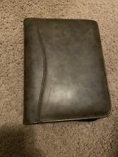 Vintage Day Timer Planner Organizer Brown Faux Leather Portable