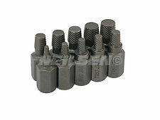 "10Pc 1/8""-13/32"" Multi Spline Screw Extractor Set Garage Quality Tools CT1089"