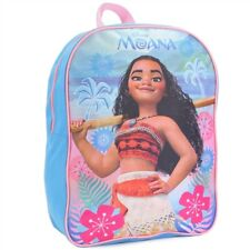 "Princess Moana 15"" Backpack Back to School Girls Kids Disney Adjustable straps"