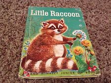 VINTAGE RAND McNALLY LITTLE RACCOON - JUNIOR ELF BOOKS 1961