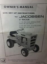 Jacobsen Chief LT-700 750 Lawn Tractor & 34 Mower Owner & Parts (2 Manual s)