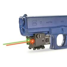 Rechargeable Red Green Dual Beam Laser Compact Gun Sight Picatinny Rail Mount