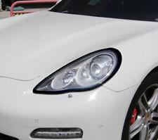 Matte Black Head Light Trim Bezel Surrond Rim Cover For Porsche Panamera 970