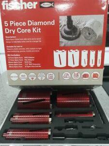 Fischer 5 Piece Diamond Dry Core Kit
