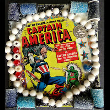 Classic Marvel Comic Book Cover Art!! Captain America, Abstract Collage Painting