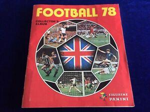 Vintage Complete Panini Football 78 Sticker Album - Rare nice example 1978