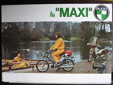 BROCHURE CATALOGUE  1979 CYCLO PUCH LES MAXI  ET MAXI 2V