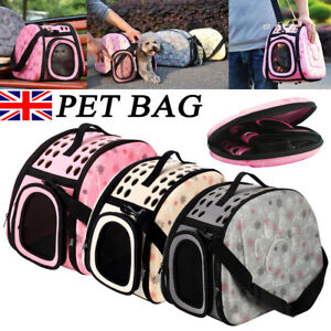 Portable Pet Dog Cat Puppy Travel Carry Carrier Tote Cage Bag Crates Kennel Box