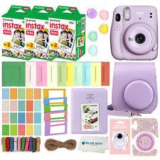 Fujifilm Instax Mini 11 Instant Camera 60 Fuji Films Accessory kit Lilac Purple