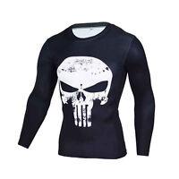 Superhéroe Punisher Skull Camiseta Superdry Manga Corto Larga T Shirts Hombre