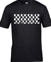 Rude Boy T-Shirt Men's Ska 2-Tone Madness Specials Reggae Skinhead T-Shirt Rude