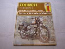 HAYNES TRIUMPH TRIDENT BSA ROCKET 1969   WORKSHOP MANUAL