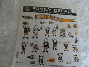 NFL  STEELERS  Family Decals  team colors  New