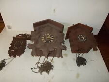 Lot of 3 German Coo Coo Parts Clocks