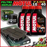 Oil Replacemenet Kit MOTUL 7100 10W40 + Filters Hiflo Kawasaki ER-6N 2009 2010