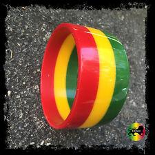 Rasta Hard Plastic Rastafari Bracelet Bangle Jamaica Reggae Marley Irie VIBES