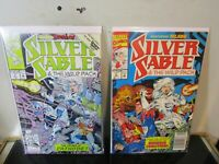 Silver Sable and the Wild Pack #7 -8 LOT Marvel BAGGED BOARDED