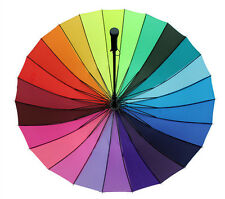 24k Umbrella Rainbow Multicolour Pagoda Anti UV Wedding Party Favor Windproof