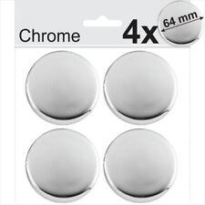 4x 64mm CHROME Domed Resin Centre Cap Hub Stickers Wheel trims Caps Badge Emblem