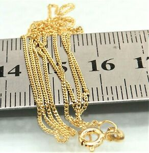 """9CT GOLD CHAIN CURB 20""""  CHAIN SOLID 9 CARAT YELLOW GOLD 20 INCH BRAND NEW"""