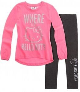Langarmshirt Tunica mit Leggins für Mädchen mit Hello Kitty  Motiv