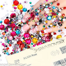 Nail Art Swarovski Crystals Mix Colours Non Hot Fix Rhinestones SS3 - SS5