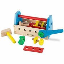 Melissa & Doug Take-Along Tool Kit Wooden Construction Toy (24 pcs) #494