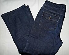 GAP 1969 CURVY Bowery Jeans Size 12 a  Inseam 28.5 Flap Pockets Dark Wash
