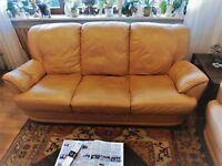Couchgarnitur, Leder 3 - 2 - 1,  Sessel mit Relaxfunktion